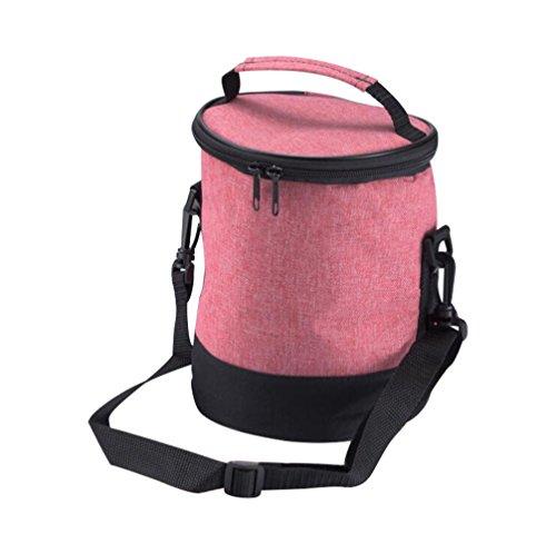 Moolecole Round Lunch Box Insulation Bags orange