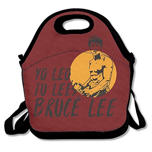 Bruce Lee DJ Gungfu Scratch Lunch Bag Lunch Box Lunch Tote Lunch Tote Bag Lunch Holder For Adults Kids Men Women Boys Girls