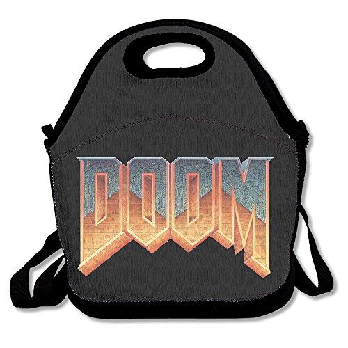 Doom Video Games Logo Lunch Box Bag For Kids And Adultlunch Tote Lunch Holder With Adjustable Strap For Men Women Boys GirlsThis Design For Portable Oblique Crossdouble Shoulder