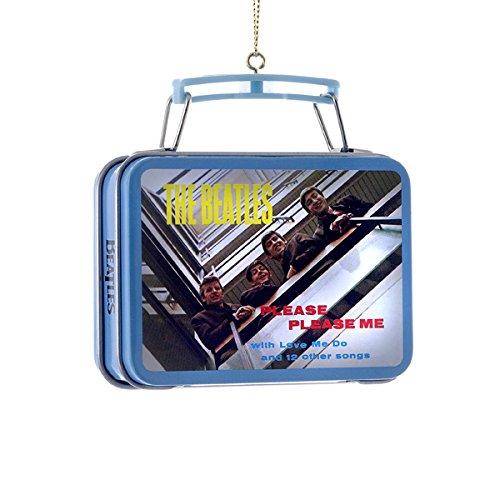 1 X The Beatles Kurt Adler Ornament- Mini Lunch Box- Beatles Debut Album-Please Please Me by Kurt Adler