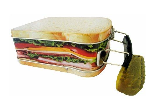 Sandwich Design Snack Box Mini Lunchbox Cookie Tin 4 12 X 5 14