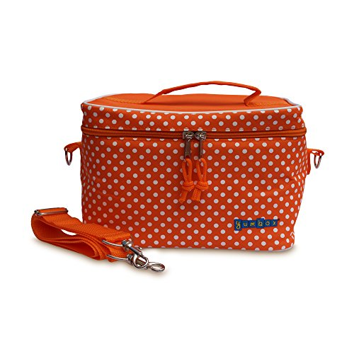 Yumbox Large Insulated Lunchbox Cooler Bag Tango Orange with White Polka Dots