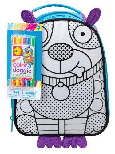 ALEX Toys Color a Bag Accessories Color a Doggie Lunch Bag Kit