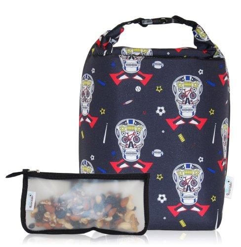 BlueAvocado Clik n Go Lunch Bag Kit Boys Skulls