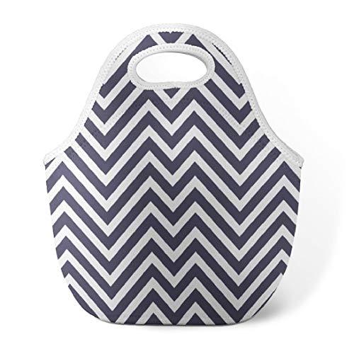 Abstract Geometric Chevron Lunch Bag Modern Lunch Bag Abstract Geometric Lines Graphic Chevron Pattern Insulated Lunch Bag Neoprene Lunch Bag for Kids Teen Women Men Purple