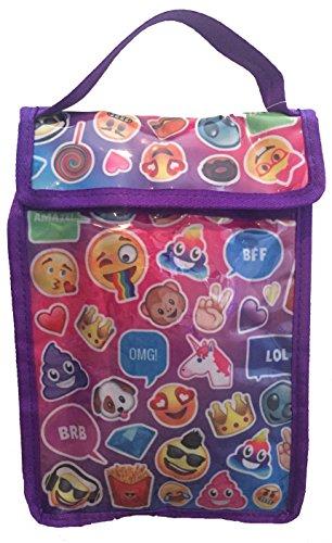 Emoji Reusable Insulated Lunch bag Purple