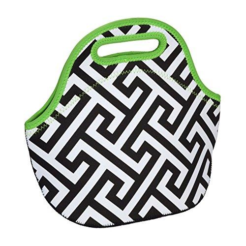 Insulated Neoprene Reusable Lunch Bag Greek Lime