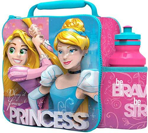 3D Disney Princess Lunch Bag with Bottle