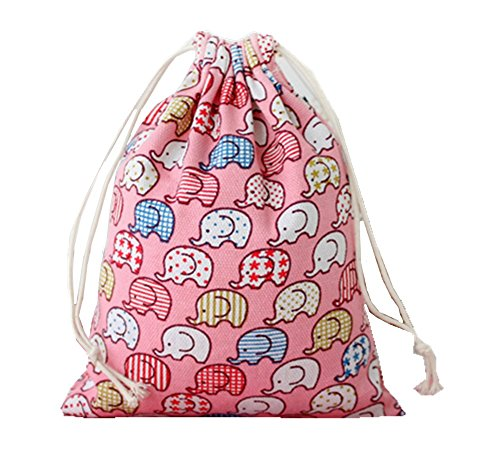 5pcs Linen Jute Bags with Drawstring Gift Bags Storage Bags S