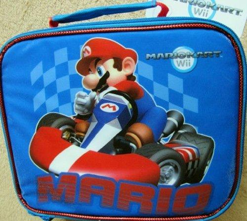 Mario Kart Racing Wii Lunch Box Blue
