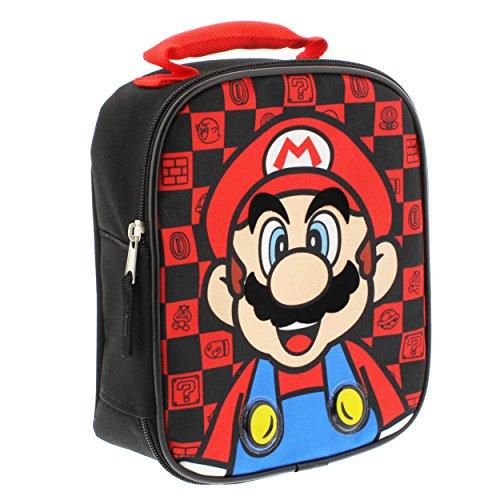 Super Mario Soft Lunch Box Mario RedBlack