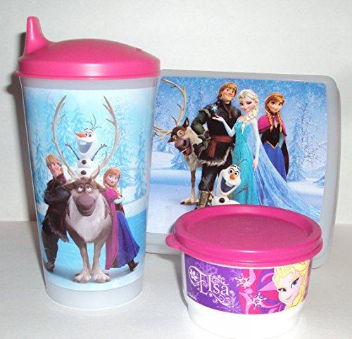Tupperware Lunch Box Set Walt Disney Frozen Olaf Elsa Anna