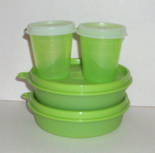 Tupperware Lunch Box Snack Set Bowls Little Wonders Midgets Lime Green Set 4