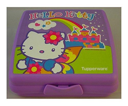 Tupperware Lunchbox Sandwich Purple Lilac Baby Girls Hello Kitty Lunch Box School