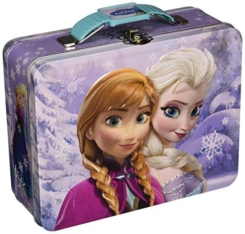 Disney Frozen Metal Tin Lunchbox - Purple