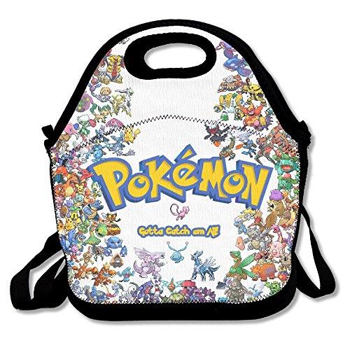 All Pokemon Lunch Box Tote Black