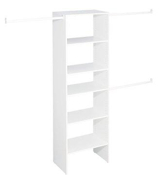 ClosetMaid Selectives 825 in x 25 in T4 White Custom Closet Organizer by ClosetMaid