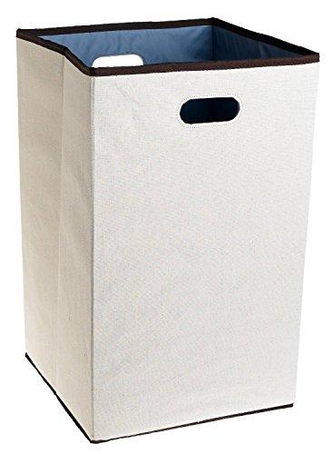 Rubbermaid Configurations Custom Closet Folding Laundry Hamper Natural 23-in FG4D0602NATUR