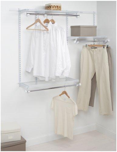 Rubbermaid Configurations Custom Closet Starter Kit White 3-6 Foot FG3E2402WHT