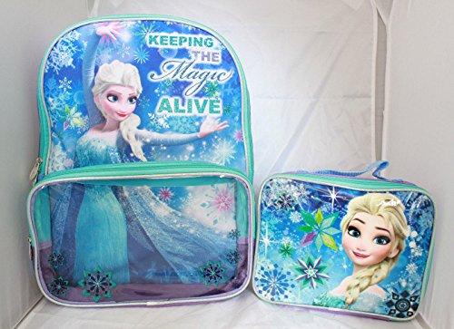 Frozen Elsa School Backpack Lunch Box Book Bag Combo SET