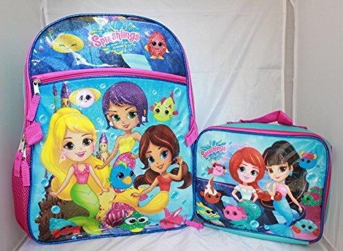 Splashlings Mermaids Friends Girls School Backpack Lunch Box Book Bag SET