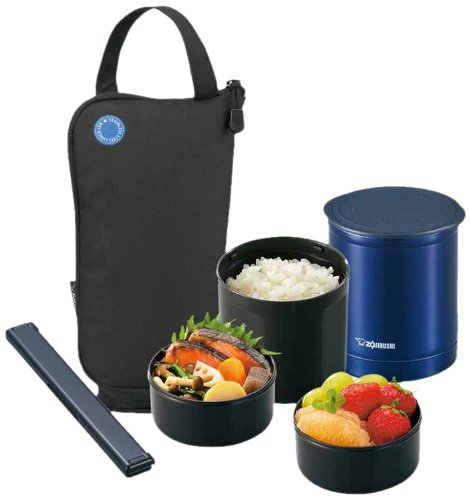 Zojirushi SZ-JA02BA Mini Bento Lunch Jar Black