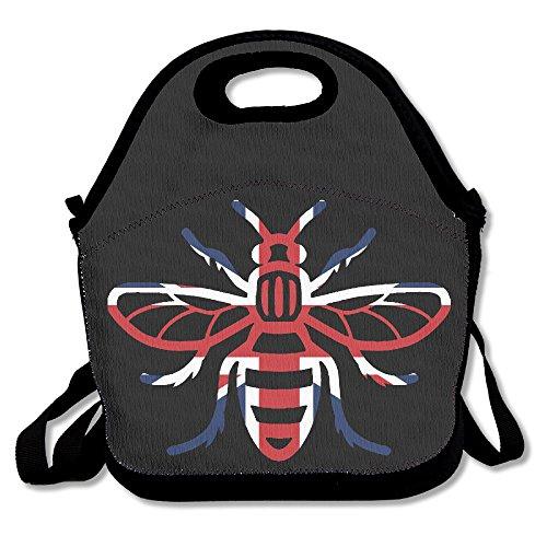 ISSOPICA Manchester Bee England Flag Custom Lunch Bag