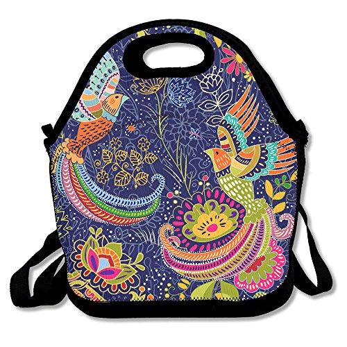 ISSOPICA Phoenix Bird Colorful Backdrop Custom Lunch Bag Backpack