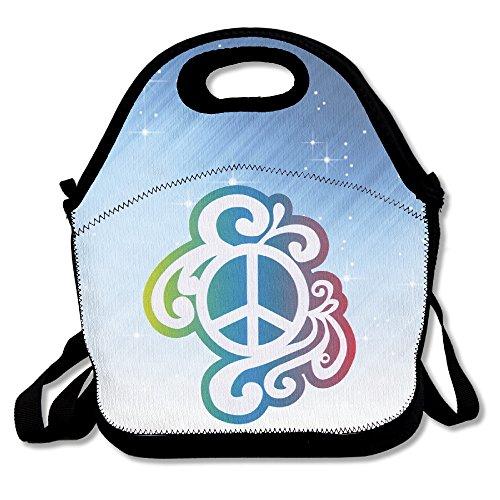 ISSOPICA Rainbow Peace Sign LGBT Custom Lunch Bag