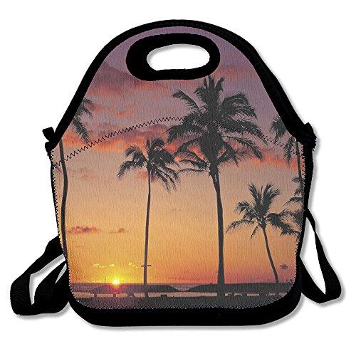 ISSOPICA Tree Coconut Palm Sunset Sky Silhouette Custom Lunch Bag