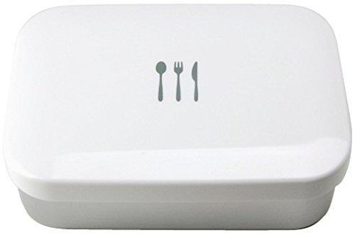 Yoshikawa aluminum lunch box designed by Harumi Kurihara white HK10782