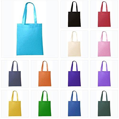 Reusable Eco Friendly Non Woven Carry-All Tote Bag Art Craft School Outdoor Activties 3 Black