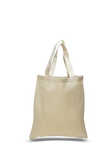 Set of 50 - Wholesale 100 Natural Cotton Plain Tote Bags BULK Eco-Friendly Tote Bags in Bulk 15W x 16H Flat Bottom NATURAL