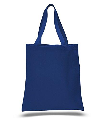 Eco Friendly Durable Cotton Canvas Tote Bag 15 x 16 Shopping Bag Craft Bag Beach Bag Grocery Bag Travel Bag Tote Bag for School Book Bag Diaper Bag 1 Royal