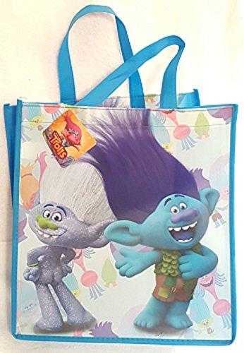 TROLLS LARGE REUSABLE BAG ~ Blue Grey Sparkle Trolls