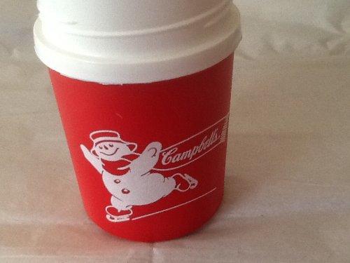 Vintage Campbells Soup Thermos 10 OZ Aladdin Plastic CAMPBELLS SNOWMAN THERMOS