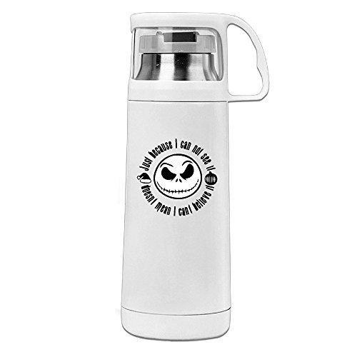 DAMEI Nightmare Before Christmas Jack Skellington Stainless Steel Mug  350mL Coffee Thermos Vacuum Flask Water Bottle