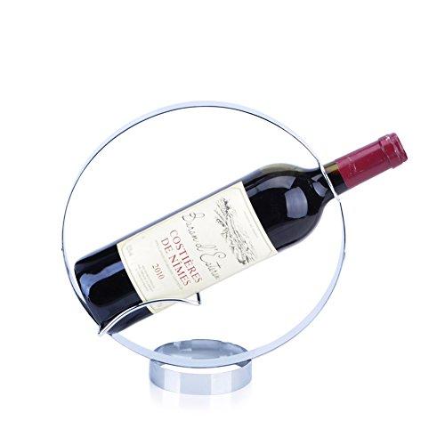 Circular wine rackStainless steel wine rackCreative wine rackEuropean-style wine rack