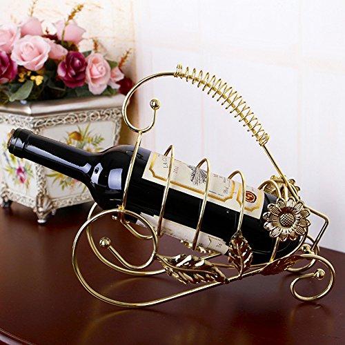 Modern Stainless Steel Heart Shape Wine Rack Home Decoration Golden1