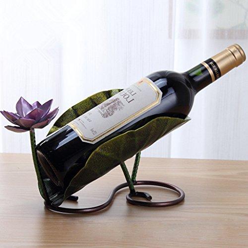 Wine RackOHTOP Stainless Steel Lotus Wine Rack Bottle Mount Holder Home Decor
