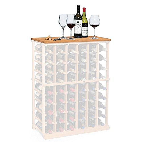 NFINITY Wine Rack - Tabletop - Natural Finish - Solid Mahogany