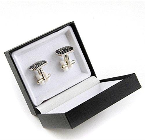 Outstanding Tie Clip Storage Gift Box Cufflink Cuff Links Jewelry Display Case