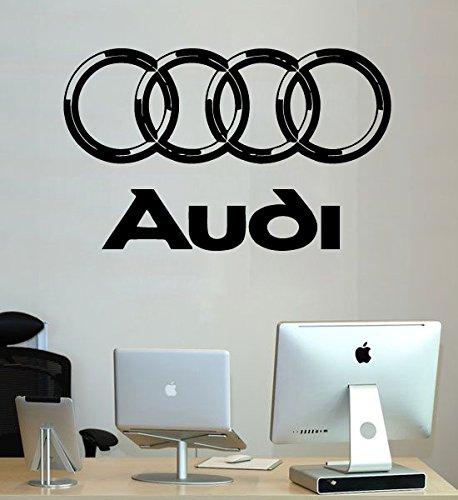 Audi Wall Decals Vinyl Sticker Emblem Logo Decal Garage Interior Studio Decor Bedroom Dorm SM111