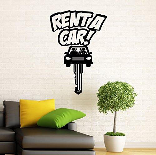 Car Rental Wall Decal Auto Service Vinyl Sticker Car Wash Wall Graphics Wall Decor Garage Interior 11c01s