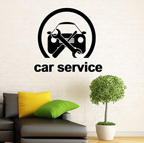 Car Service Wall Decal Auto Service Vinyl Sticker Car Wash Wall Graphics Wall Decor Garage Interior 4c01s