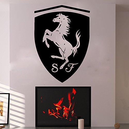 Ferrari Wall Decals Vinyl Sticker Emblem Logo Decal Garage Interior Studio Decor Bedroom Dorm SM126