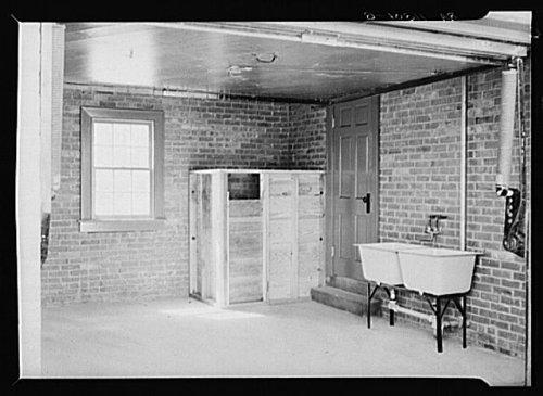 Photo Garage interiorcoal binlaundry tubs Newport News HomesteadsVirginia