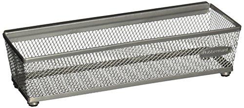 Rubbermaid FG1F7800TITNM Interlock Wire Mesh Drawer Organizer 3 by 12-Inch Titanium