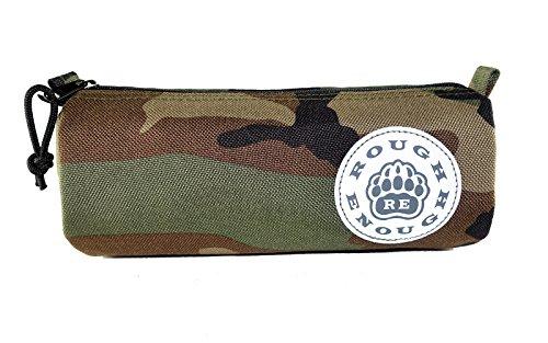 Rough Enough Reflective Classic Logo Cordura Small Pencil Case Pouch Camo
