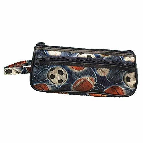 Basketball Baseball Soccer Football Sport Pencil Case Holder Pouch - Athlete Pencilcase Box Back to School Supplies
